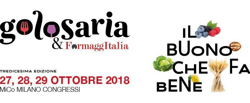 Golosaria e FormaggItalia: a Milano arriva il buono che fa bene