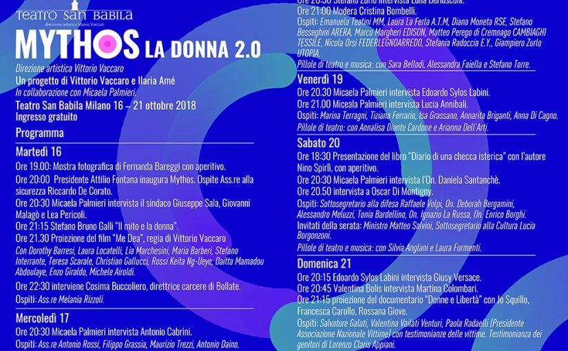 Mythos, donna 2.0 al Teatro San Babila Milano