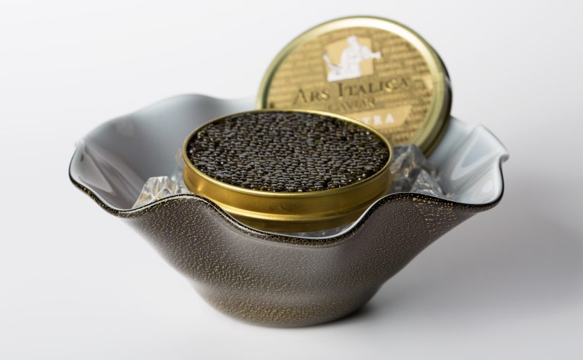 """Venini & Ars Italica caviar lanciano """"The perfect Caviar serving set"""""""