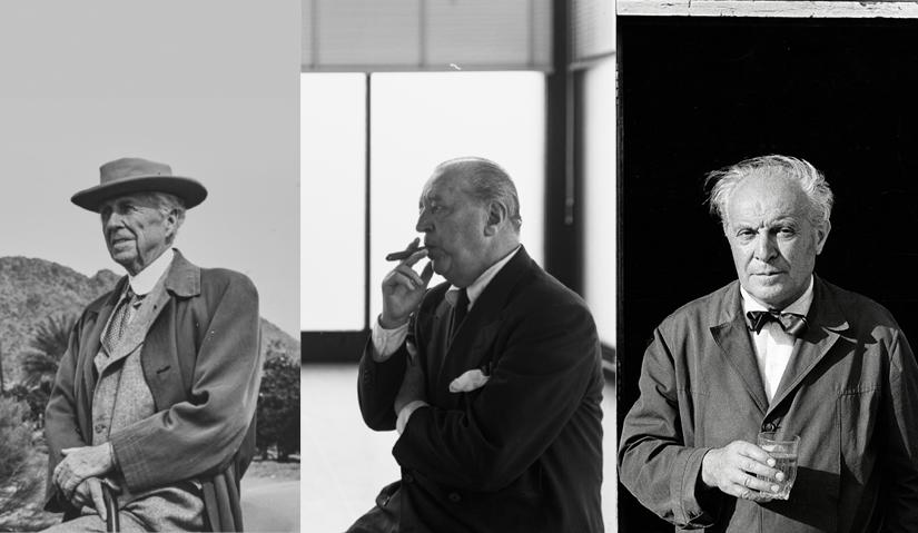 La Triennale di Milano I TRE ARCHITETTI Frank Lloyd Wright Mies van der Rohe Gio Ponti