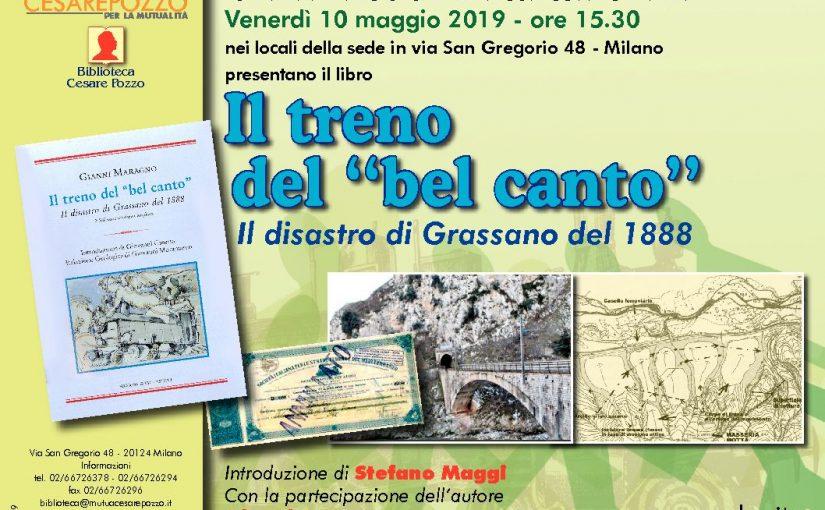 Presentazione di Il treno del bel canto, il disastro ferroviario di Grassano di Gianni Maragno