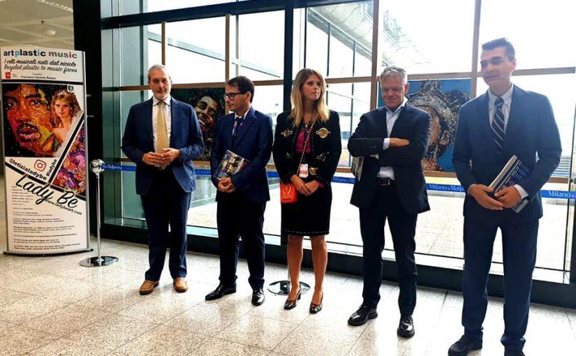 Il Riciclo diventa Arte all'aeroporto di Milano Malpensa  con la mostra di Lady Be