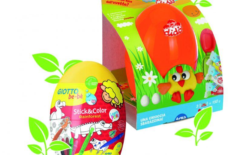 Pasqua green e creativa con gli ovetti Didò Toc Toc e Giotto be-bè Stick&Color.